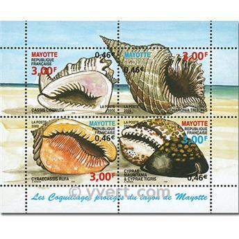 n.o 4 -  Sello Mayotte Bloques y hojitas