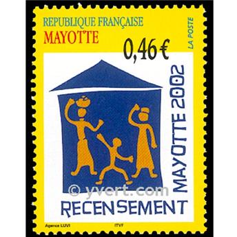 n.o 132 -  Sello Mayotte Correos