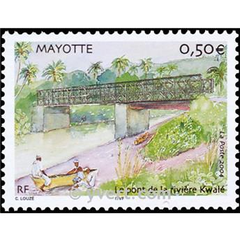 n.o 166 -  Sello Mayotte Correos