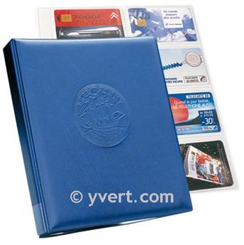 CARAVELLE : la reliure (Bleu) + 10 feuilles télécartes