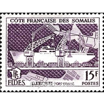 n.o 285 -  Sello Somalia francesa Correos