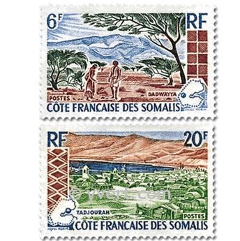 n° 322/323 -  Timbre Cote des Somalis Poste