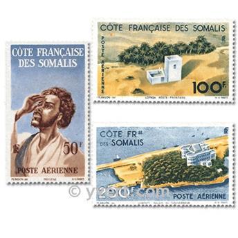 n.o 20 / 22 -  Sello Somalia francesa Correo aéreo