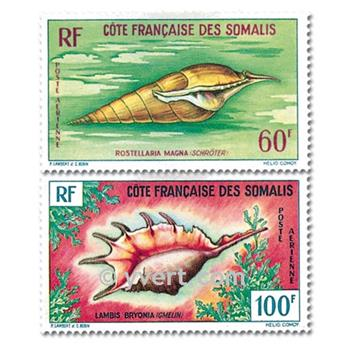 n.o 31 / 32 -  Sello Somalia francesa Correo aéreo