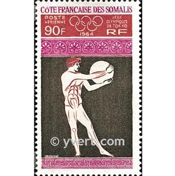 n° 41 -  Timbre Cote des Somalis Poste aérienne