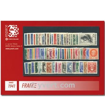 n° 470/537  - Timbre France Année complète  (1941)