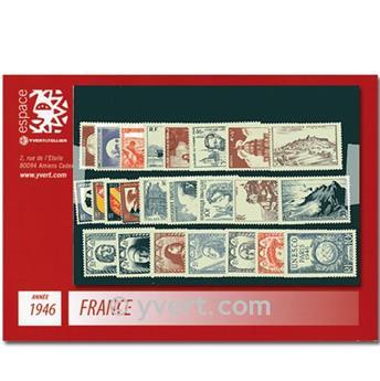 n° 748/771  - Timbre France Année complète  (1946)