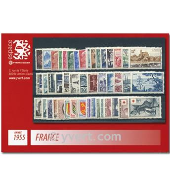 n° 1008/1049  - Stamp France Year set  (1955)