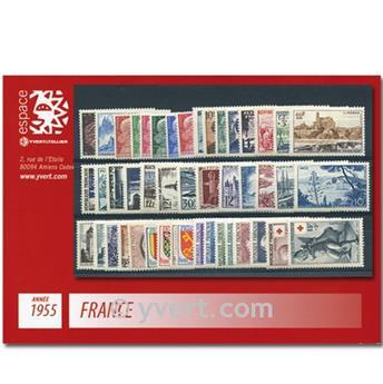 n° 1008/1049  - Timbre France Année complète  (1955)