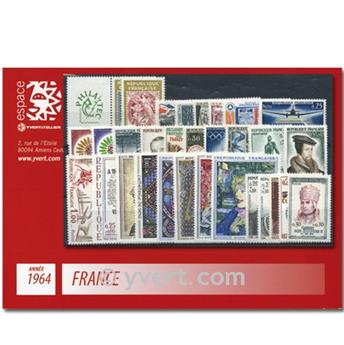 n° 1404/1434  - Selo França Ano completo  (1964)