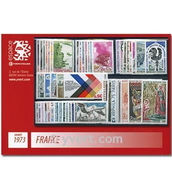 n° 1737/1782  - Selo França Ano completo  (1973)