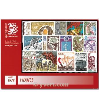 n° 1962/2027  - Selo França Ano completo  (1978)