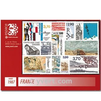 n° 2452/2500  - Timbre France Année complète  (1987)
