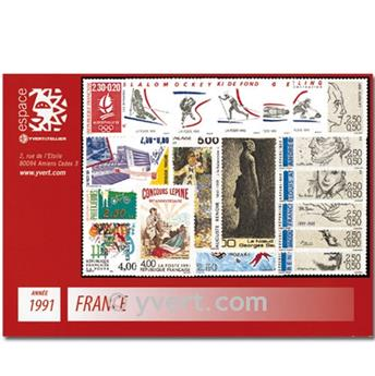 n° 2676/2735  - Selo França Ano completo  (1991)