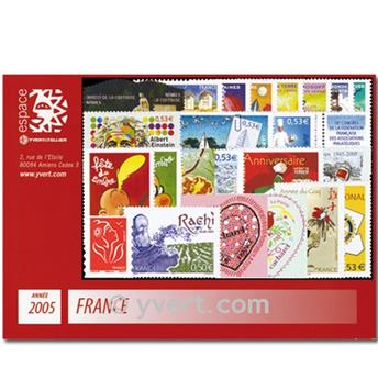 n° 3731/3860  - Timbre France Année complète  (2005)