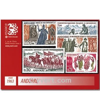 n° 166/170 -  Selo Andorra Ano completo (1963)