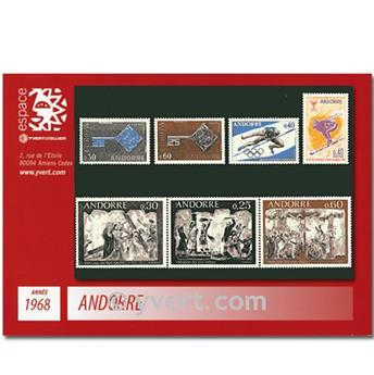 nr. 187/193 -  Stamp Andorra Year set (1968)