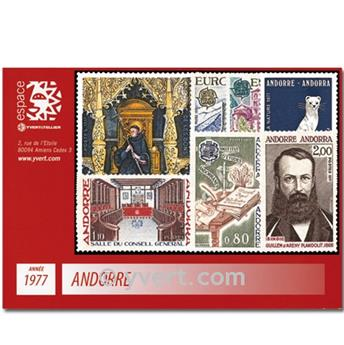 nr. 260/266 -  Stamp Andorra Year set (1977)