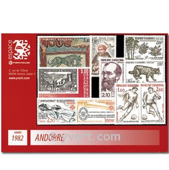n° 300/309 -  Selo Andorra Ano completo (1982)