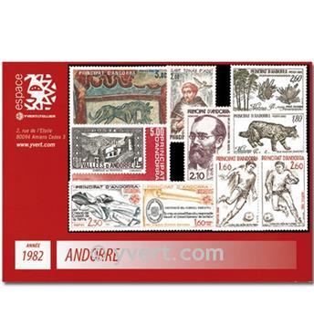 n° 300/309 -  Timbre Andorre Année complète (1982)