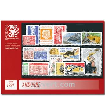 n° 400/412 -  Selo Andorra Ano completo (1991)