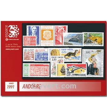 n.o 400/412 -  Sello Andorra Año completo (1991)
