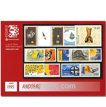 n.o 454/466 -  Sello Andorra Año completo (1995)