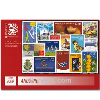 n° 525/539 -  Selo Andorra Ano completo (2000)