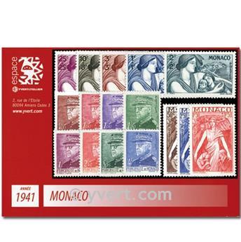 n° 215/233 -  Timbre Monaco Année complète (1941)