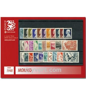 n.o 301 / 323 -  Sello Mónaco Año completo (1948)