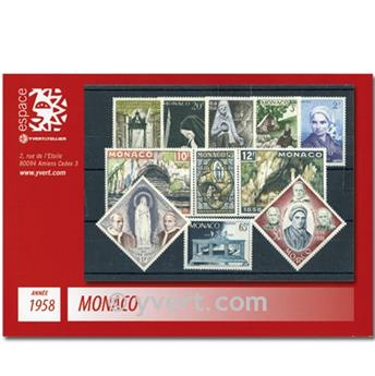 n° 489/502 -  Selo Mónaco Ano completo (1958)