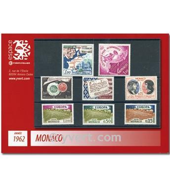n.o 571 / 598 -  Sello Mónaco Año completo (1962)