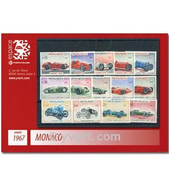 n° 708/735 -  Selo Mónaco Ano completo (1967)