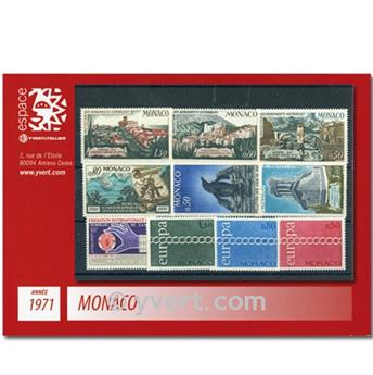 n.o 847 / 866 -  Sello Mónaco Año completo (1971)