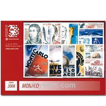 n° 2604/2657 -  Timbre Monaco Année complète (2008)