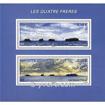 n° 6 -  Timbre Mayotte Blocs et feuillets