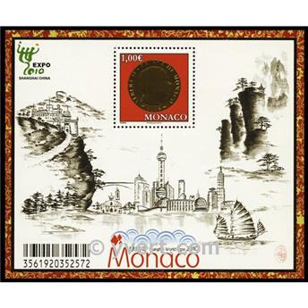 n.o 96 -  Sello Mónaco Bloque y hojitas
