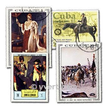 NAPOLEÃO: lote de 100 selos