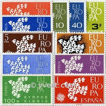 1961** - Année complète neuf EUROPA
