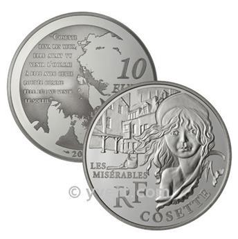 10 EUROS ARGENT - FRANCE - COSETTE