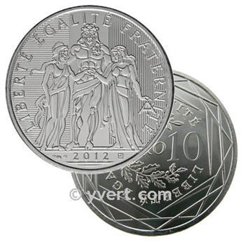 10 EUROS PRATA - França 2012 - Hércules