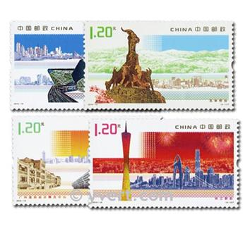 n° 4737/4740 -  Timbre Chine Poste