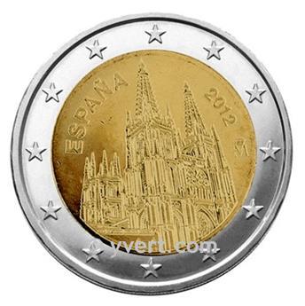 2 EURO COMMEMORATIVE 2012 : ESPAGNE (commémoration de la cathédrale de Burgos, inscrite au patrimoine mondial de l'Unesco)