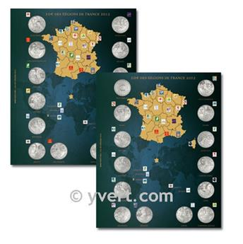 10€ COMMEMORATIVES ´Regions de france´ Inserts - 2012