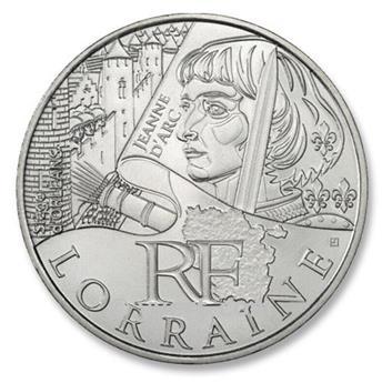 10 € DE LAS REGIONES - LORRAINE - 2012