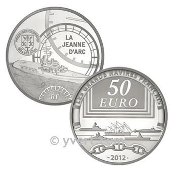50 EUROS PRATA - França - LA JEANNE D´ARC