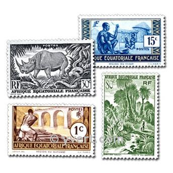 ÁFRICA EQUATORIAL FR : Lote de 50 selos