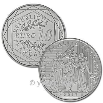 10 EUROS PRATA - França 2013 - Hércules
