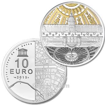 10 EUROS PRATA - FRANÇA 2015 - UNESCO