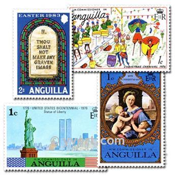 ANGUILLA : pochette de 50 timbres